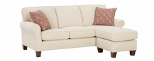 Nikki Upholstered Apartment Size Reversible Chaise Sectional