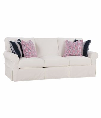 Noreen Slipcovered Queen Sleeper Sofa with Skirt