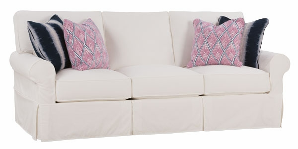Oversized Comfort Slipcovered Sofa W/ Roll Arms And