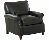 Oakley Petite Leather Reclining Chair w/ Kidney Pillow