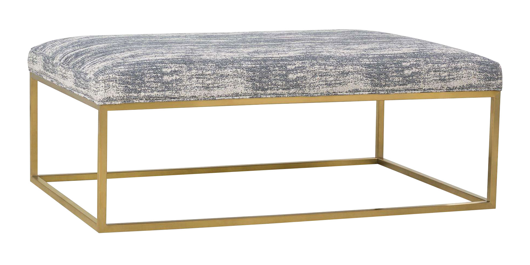 Olson Upholstered Coffee Table Ottoman With Gold Finish ...