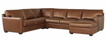 Orson Track Arm Leather Sectional Furniture