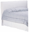 Paramount Queen Slipcovered Headboard w/ Metal Bed Frame
