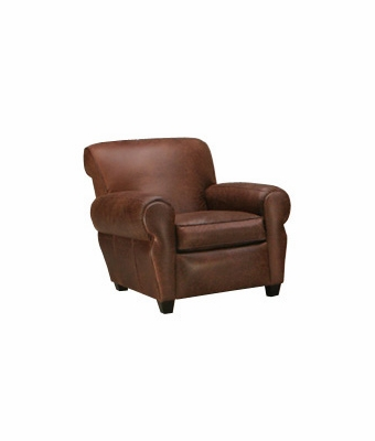 "Parker ""Designer Style"" Leather Club Chair Like Manhattan"
