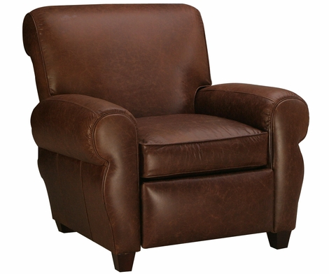 Parker Leather Club Style Recliner