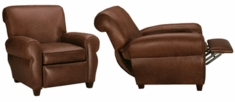 """Parker """"Designer Style"""" Leather Club Style Reclining Chair"""