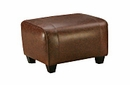 "Parker ""Designer Style"" Leather Ottoman"