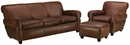 "Parker ""Designer Style"" Leather Queen Sleeper Sofa Set"