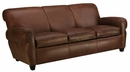 "Parker ""Designer Style"" Leather Sleeper Loveseat"