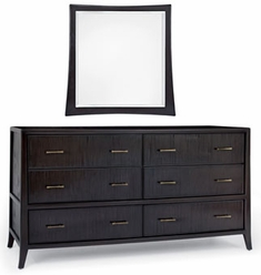 Pearce 6 Drawer Dresser w/ Mirror