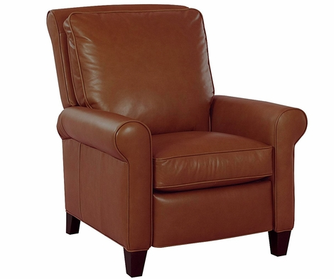 Perry Pillow Back Leather Cigar Chair Recliner