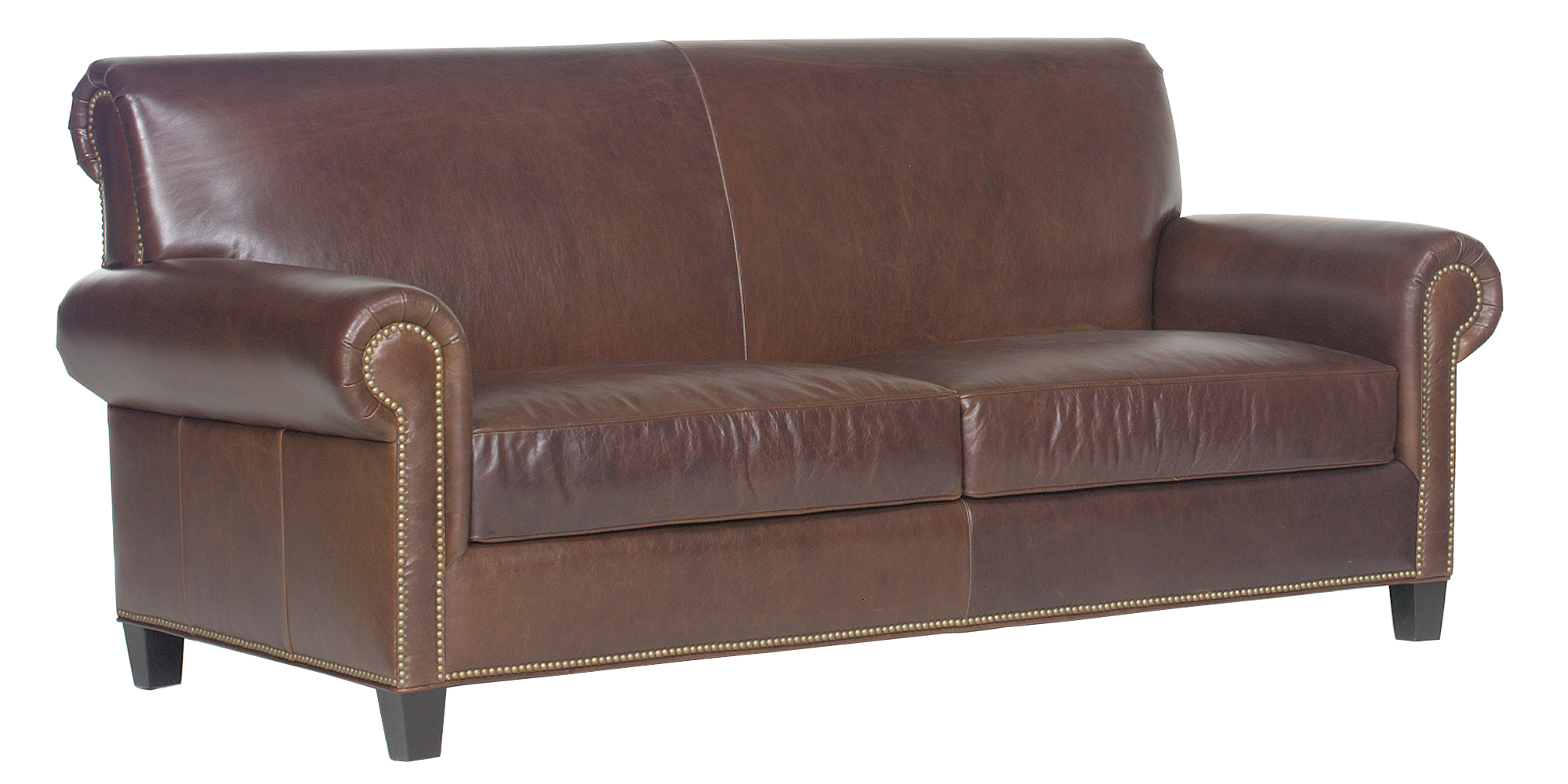 Traditional Tight Back Leather Sofa Loveseat Collection  : prescott designer style traditional tight back leather set w nailheads 1 from www.clubfurniture.com size 2000 x 1000 jpeg 1328kB