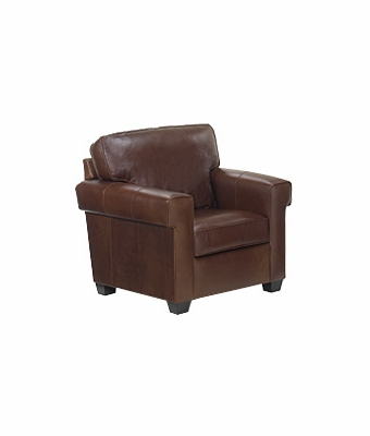 "Preston ""Designer Style"" Contemporary Pillow Back Leather Club Chair"