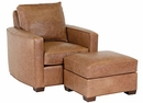 """Quinlan """"Designer Style"""" Curved Arm Leather Chair"""