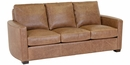 """Quinlan """"Designer Style"""" Curved Arm Leather Loveseat"""