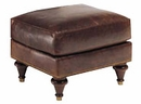 Traditional Leather Pillow Back Loveseat W English Arms