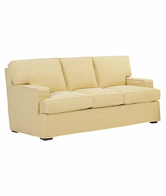 Pillow back Slipcover Sleeper Sofa w Track Arms