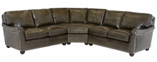 Rafferty English Arm Leather Sectional Sofa