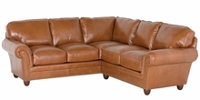 Raymond Traditional Leather Sectional Couch Furniture
