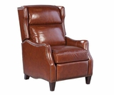 "Richard ""Quick Ship"" Wing Bustle Back Leather Recliner"