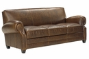"Richmond ""Designer Style"" High End Leather Club Style Couch"