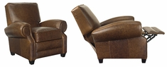 """Richmond """"Designer Style"""" Large Leather Reclining Club Chair"""