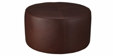 Richter Leather Oversized Round Drum Ottoman