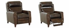 Ridley Bustle Wing Back Leather Recliner