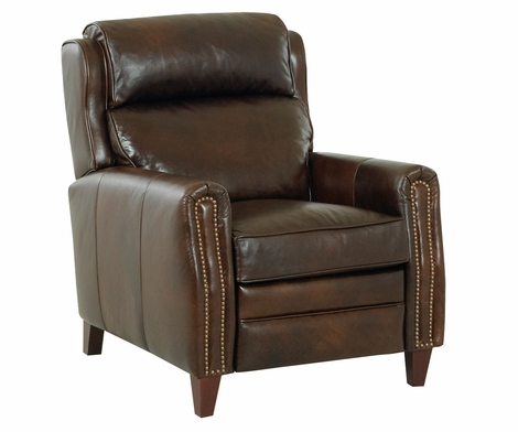 Ridley Leather Bustle Back Recliner