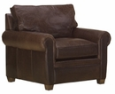 "Rockefeller ""Designer Style"" Classic Leather Club Chair"