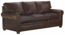 "Rockefeller ""Designer Style"" Traditional Leather Queen Sleep Sofa"