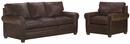 "Rockefeller ""Designer Style"" Traditional Leather Sofa Set"