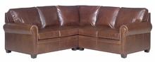 Rockwell Rolled Arm Leather Sectional Sofa