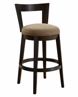 "Roland ""Ready To Ship"" Contemporary Fabric Bar & Counter Swivel Stool Collection"