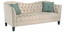 Rose Tufted Fabric Upholstered Couch