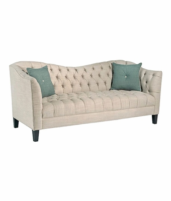Rose Tufted Fabric Upholstered Sofa
