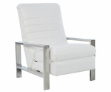 Roy Modern Stainless Steel Leather Recliner