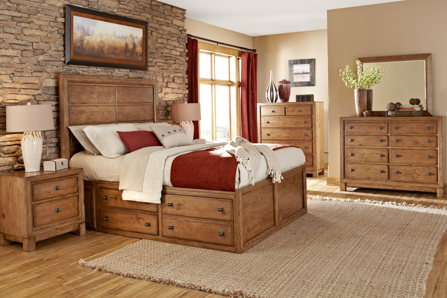 Newbury Wood Bedroom Furniture Collection - Wood Bedroom Furniture