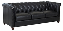 Rutherford High Back Leather Tufted Sofa