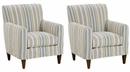 """Set of 2 Alice """"Designer Style"""" Slipcover Accent Chairs"""