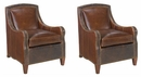"Set of 2 Wilbur ""Designer Style"" Traditional Upholstered Accent Chairs"