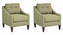 "Set Of 2 Brody ""Designer Style"" Accent Chairs"