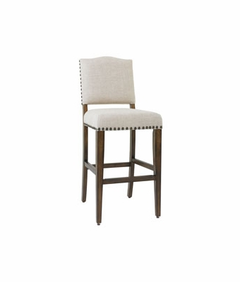 Rustic Bar Height Stool With Nail Trim Club Furniture