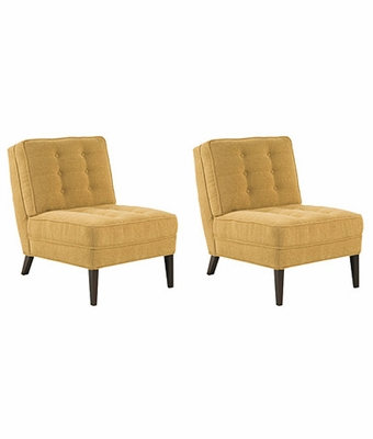 "Set 2 Mitchell ""Designer Style"" Fabric Upholstered"