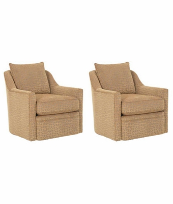 "Set of Two Stella ""Designer Style"" Swivel Fabric"