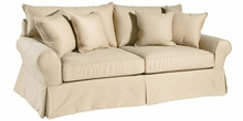 Sharon Slipcovered Collection w/ Knife Edge Back Pillows