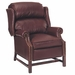 Calhoun Designer Style Inset Arm Traditional Chippendale Leather Recliner