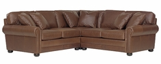 "Sheffield ""Designer Style"" 3-Piece Deep Seated Large Leather Upholstered Sectional (As Configured)"