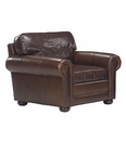 """Sheffield """"Designer Style"""" Grand Scale Leather Club Chair"""
