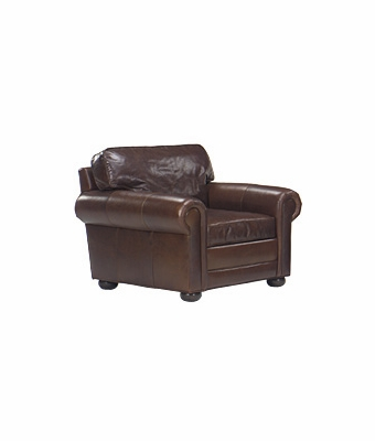 "Sheffield ""Designer Style"" Grand Scale Leather Club Chair"